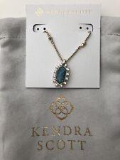 New! Kendra Scott Brett Pendant Necklace in Aqua Apatite w/pouch $80.00