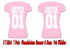 Sister Sister T Shirt Partner Look Hipster Relationship 2 Stück XS - 5XL New
