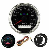 Waterproof GPS Speedometer Speedo Gauge fits Motorcycle,car boat 85mm 200km/H