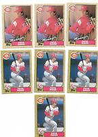 7-CARD LOT PETE ROSE Cincinnati Reds 1987 Topps Baseball