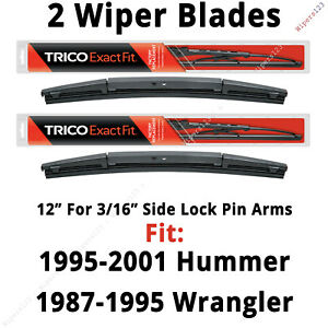 """Qty 2 Trico Exact Fit 12"""" Wiper Blades fit Listed Hummer & Wrangler - 12-2 x2"""