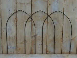 1 Rusty Metal Gothic Border Edging Hoop, Arches, Rustic Garden Arches, Frame