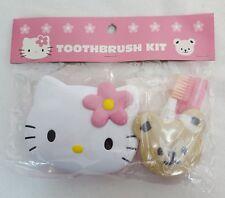 1998 Sanrio HELLO KITTY Mini TOOTHBRUSH, Toothpaste MIRROR & Compact Case NEW