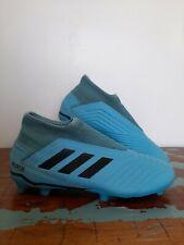 Adidas Predator 19.3 LL FG Light Blue Mens Boys Football Boots Blades Size UK 8