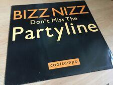 "BIZZ NIZZ - DONT MISS THE PARTYLINE - OLDSKOOL 12"" VINYL RECORD DJ"