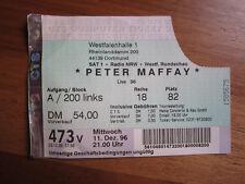 Peter Maffay - old Ticket alte Eintrittskarte GERMANY 11.12.1996, Dortmund