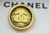 One Stamped Chanel button 1 pieces   metal cc logo 0,8   inch 20 mm  gold
