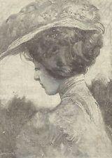 A1180 Ombre e luci primaverili - A. Dall'Oca Bianca - Incisione Antica del 1905