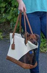 Pet Gear R&R Pet dog Tote Bag Carrier with Fleece Liner - Sand Beige