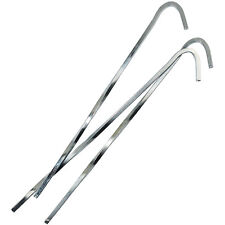"""100PK 7"""" STEEL SKEWER TENT PEG ROD PROVIDES IMPROVED HOLDING POWER CAMPING"""