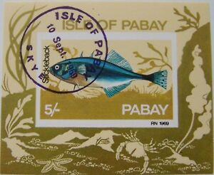 Great Britain - Pabay - Block Fish used