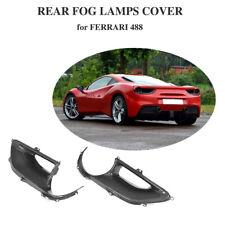 Fits Ferrari 488 GTB Spider 2PCS Rear Fog Lamp Cover Carbon Fiber 2015-2017