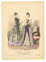 """Ladies Fashion Print - """"La Mode Illustree"""" 1889 No. 50"""