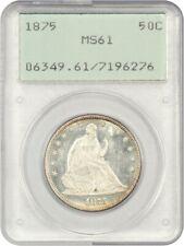 1875 50c PCGS MS61 - Liberty Seated Half Dollar - First Generation PCGS Holder