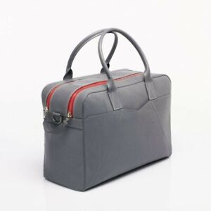 """Anonyme Paris - """"MONCEAU"""" Grey Printed Cow Leather Weekender Hold-All Bag"""