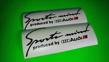 2x Sports Mind Audi Sport Car Sticker/Sport Logo Decal