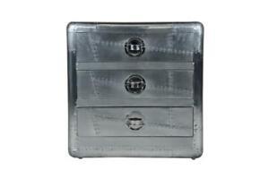 Aviator Aluminium Chest / Cabinet / 3 Drawer