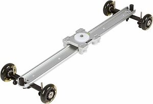 Movo SGTD-60S 60cm Linear Track Slider / Table Dolly Combo Video Camera Rail Rig