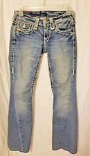 "TRUE RELIGION Joey Super T Jeans Rare Sz 24 29"" Inseam Thick Stitch Twist Seam"