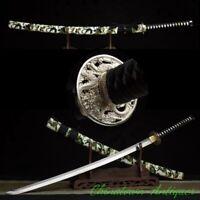 Cyan Dragon Katana Battle Sabre Japanese Samurai Sword Steel Blade Sharp #2510