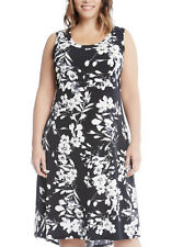 NEW  Karen Kane Plus Size Sleeveless Black&White Floral Dress Spring Summer 2X