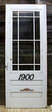 """35.5""""x90 Antique Vintage Old Wood Wooden Storm Screen Exterior Door Window Glass"""