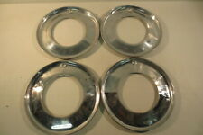 """15"""" Beauty Rings Hubcaps 1940's 1950's Chevy Ford Buick Chrysler Mopar Accessory"""