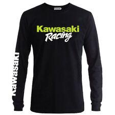 Genuine Kawasaki Racing Motorcycle Biker Extreme Black Long Sleeve Tee T-Shirt