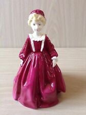 ROYAL WORCESTER FIGURINE GRAND MOTHERS DRESS RED MODELLED BY F G DOUGHTY