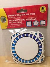 30 Pack of Poster Board / Bulletin Board Call out Frames - Blue and Purple