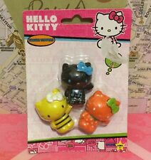 A Pack Of 3 Sanrio 1978, 2013 Hello Kitty Eraser Tops