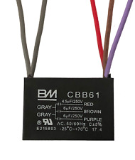 BM CEILING FAN CAPACITOR CBB61 4.5uf+6uf+6uf 5 WIRE