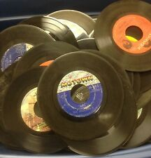 Lot of 100 45 rpm Vinyl Records for Crafts and Decoration 7""