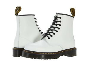 Women's Shoes Dr. Martens 1460 BEX Leather Platform Boots 26499100 WHITE SMOOTH