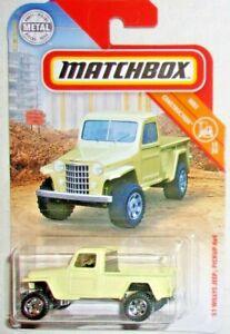 Matchbox '51 Willys Jeep Pickup 4x4 #031 MBX Construction 15/20 Yellow VHTF!