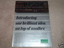 Sansui S-X1130 Receiver Ad, 1986, AV, AM Stereo! RARE!