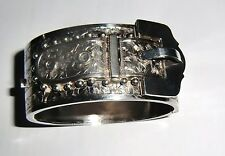 Superb  Victorian Belt Braclet - hand chased and intricate - 1876
