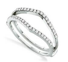 14K Oro Blanco Anillo de Compromiso Potenciador .25ct Original Diamantes Novia