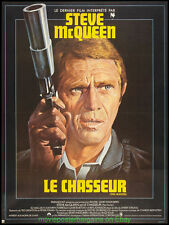 THE HUNTER MOVIE POSTER FRENCH 47x63 Folded Fine Condition STEVE MCQUEEN 1980