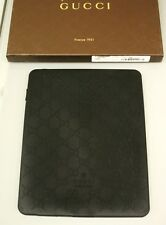 New GUCCI GG Monogram iPad Case cover Black Rubber for iPad 1-4th gen 272402