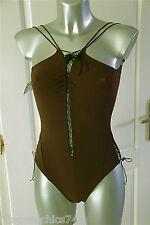 maillot de bain 1 pièce marron luxe VANNINA VESPERINI T 36 NEUF ÉTIQUETTE v 230€
