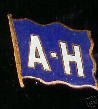 OLD ENAMEL cap badge OCEAN LINER hallmarked