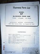 McCulloch model 47 illustrated Parts list