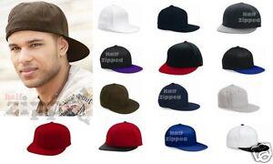 Yupoong FLEXFIT Flat Bill Cap Fitted Hat 6210 S/M L/XL Baseball Hat