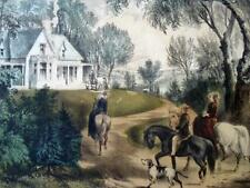 C&I, SUMMER IN THE COUNTRY, Currier & Ives Print, Antique Americana LItho, AS IS