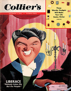 1954 Colliers September 3-Liberace; Willie Mays; San Francisco 49ers;Black light