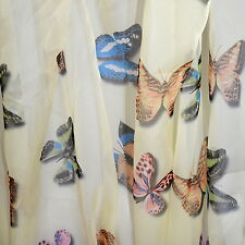 "YELLOW BUTTERFLY SHADOWS OMBRE' 100% POLYESTER PRINTED CHIFFON 58"" W WIDE FABRIC"