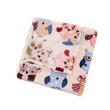 HS Velvet Plush Throw, Micro Plush Throw Blanket, 46 by 60-Inch, Owl Print