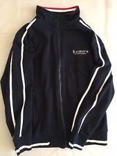 Lord's The Home Of Cricket Classic Medium Zip Jacket Polyester Cotton Navy Blue