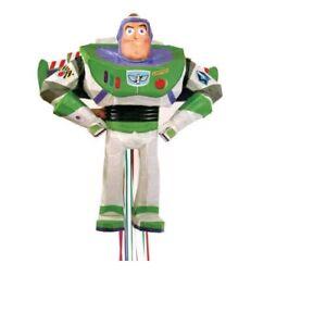 Disney Buzz Lightyear Toy Story 3D Pull Pinata Birthday Party Toy